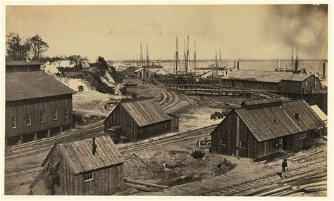 Petersburg - Photograph shows railroad station and a view ...