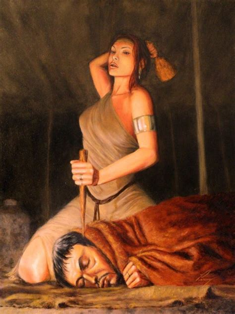 """The Bible In Paintings, #68: JAEL AND HER """"TENT-PEG THROUGH THE NOGGIN"""" TRICK"""
