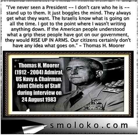 Pic: Most important US Military Quote: Admiral Moorer: No ...