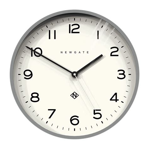 Buy Newgate Clocks Number Three Echo Wall Clock - Grey | AMARA