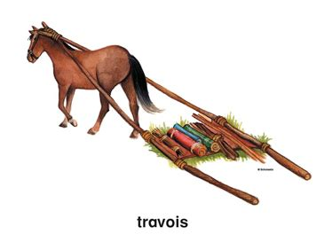 Travois   Printable Clip Art and Images