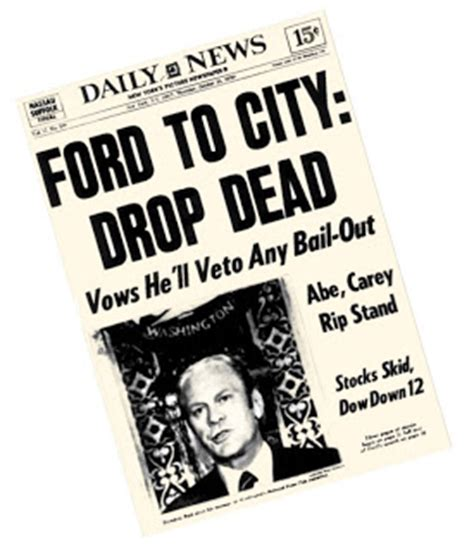 Ford new york city drop dead