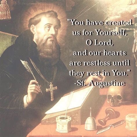 Our hearts are restless   St augustine quotes, Poster ...