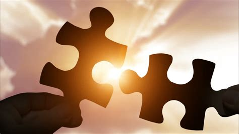 Puzzle Pieces Connecting with Hands Stock Footage Video ...