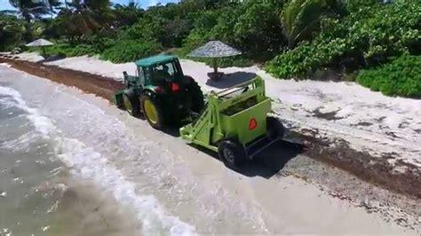 Caribbean Sargassum Cleanup with the Barber Surf Rake ...