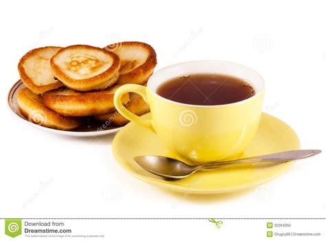 Tea And Pancakes Stock Photo - Image: 32264350