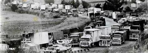 The Razorback Truck Blockade of 1979 protested removal of ...