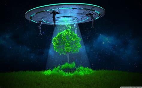 UFO Tree Abduction Ultra HD Desktop Background Wallpaper ...