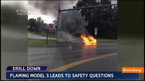 Tesla Model S on Fire: Safety Questions, Stock Down - YouTube