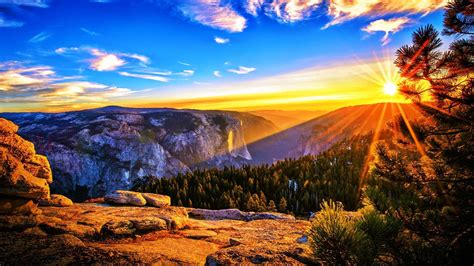 Sunrise In The Mountains Free Stock Photo - Public Domain ...