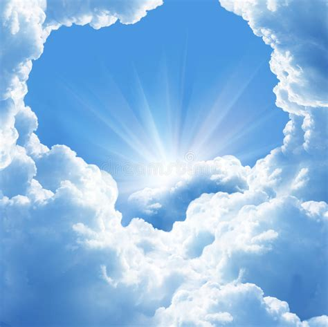 Beautiful clouds stock photo. Image of beauty, sunlight ...