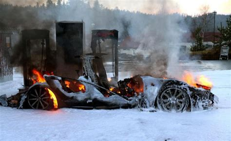 Tesla Model S Burns While Plugged Into Supercharger