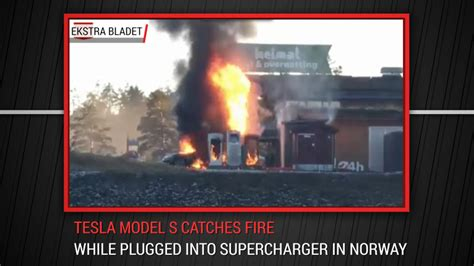 Tesla Catches Fire While At Supercharger | Autoblog Minute - Autoblog