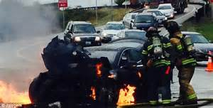 New blow for Tesla: Fire in the 'world's safest electric car' began in vehicle's battery | Daily ...