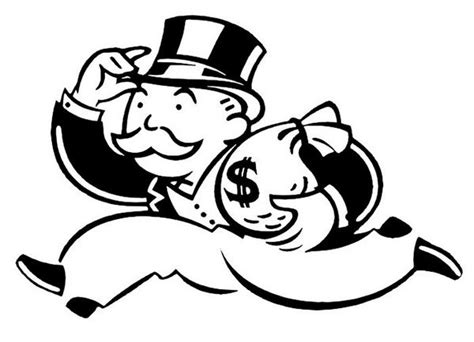 monopoly man clipart black and white - Clipground