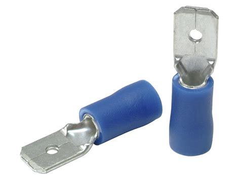 Profile Cosse électrique mâle 1,0-2,6 mm 10 pièces bleu | Hubo