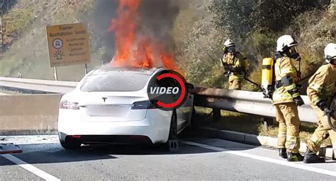 This Is How You Extinguish A Burning Tesla Model S | Carscoops
