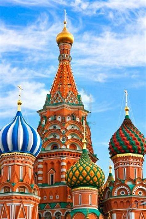 ONION DOMES. St. Basil's Cathedral in Moscow's Red Square ...