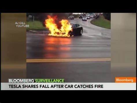 Tesla's Worst Nightmare Sparked as Car Catches Fire - YouTube