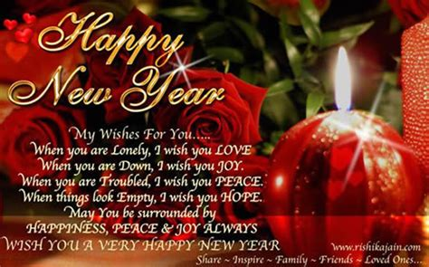 Happy New Year My Wishes For You.... Pictures, Photos, and ...
