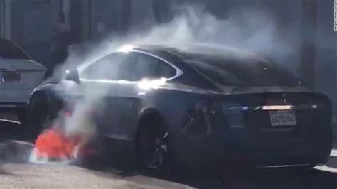Watch viral video of Tesla on fire - CNN Video