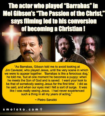 """TradCatKnight: """"Barrabas"""" actor says Passion filming led ..."""