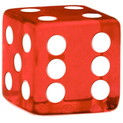 Rounded Corner 19mm Red Dice