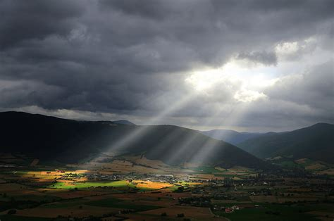 Sunlight on the Mountain Valley Landscape image - Free ...