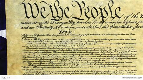 Constitution Of United States Historical Document Stock ...