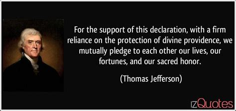 For the support of this declaration, with a firm reliance ...
