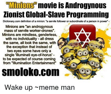 Minions Movie Is Androgynous Zionist Global Slave ...