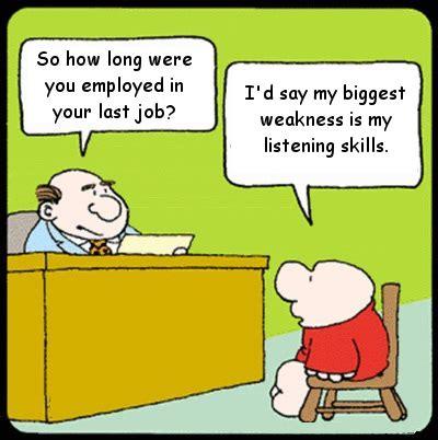 Job Interview Cartoons ~ Silly Bunt