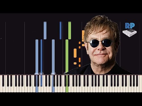 Elton John - Rocket Man - Synthesia Piano Tutorial