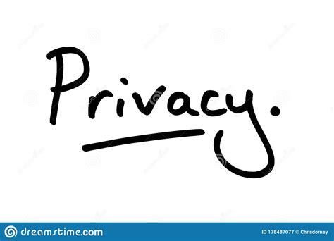 Privacy stock illustration. Illustration of quiet ...