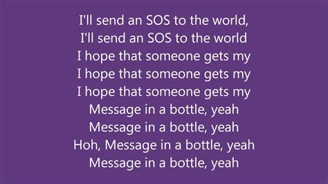 The Police - Message In A Bottle - The Lyric Video - YouTube