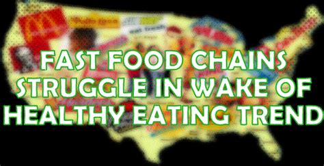 Fast Food Chains' Sales Struggle In Wake Of Healthy Eating ...