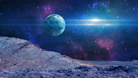 Space Scene. Astronaut On Planet Stock Footage Video (100% ...