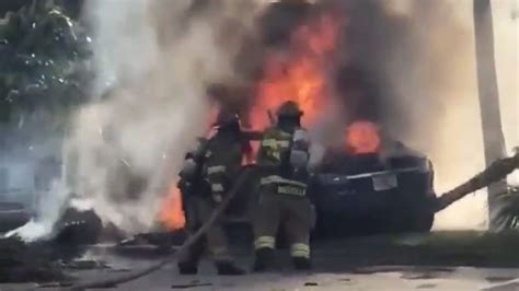 Fiery Tesla crash with trapped driver puts focus on vehicle door locks | Autoblog