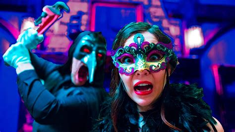 Terrifying Masquerade Party in 3D 360!! - YouTube
