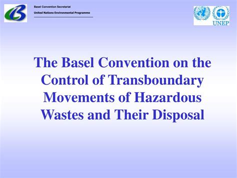 PPT - The Basel Convention PowerPoint Presentation, free ...