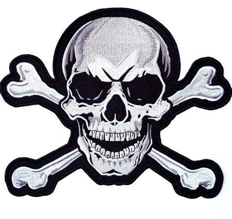 Skull Crossbones Embroidered Patch Large - Nixon Thread Co.