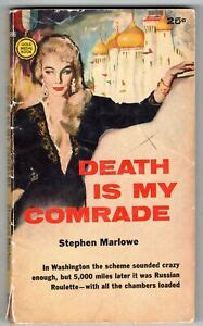 COLD WAR Stephen Marlowe DEATH IS MY COMRADE Commies GOLD MEDAL 986 1960 PBO 1st | eBay