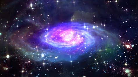 Beautiful Galaxy Effect in Space Stock Footage Video (100% ...