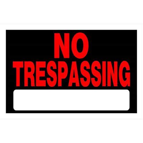 "Hillman 8"" x 12"" No Trespassing Sign | Blain's Farm & Fleet"
