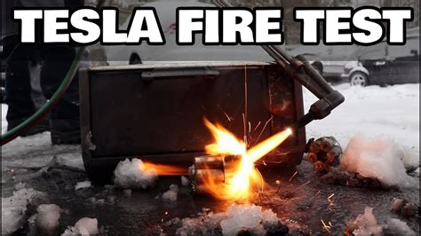 Can we make Tesla batteries fire resistant? - YouTube