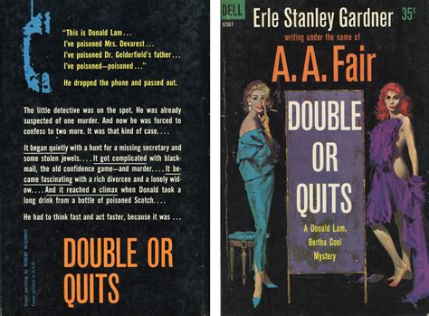 Dell Books D361- A.A. Fair - Double or Quits (with back) | Flickr