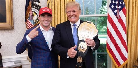 Video: President Donald Trump tells Colby Covington he'll be watching Tyron Woodley fight
