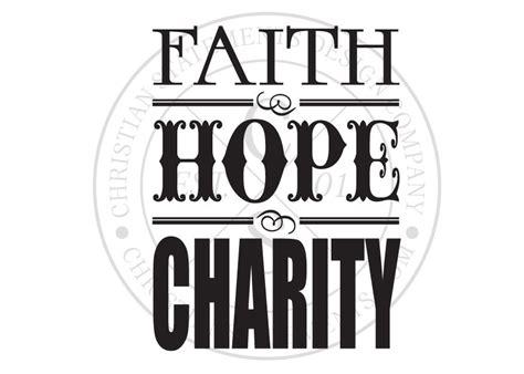 Faith, Hope & Charity Vinyl Wall Statement, Vinyl, SCR125