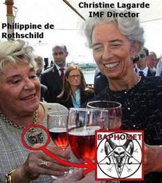 Baroness Philippine de Rothschild Baphomet   Illuminati Symbols