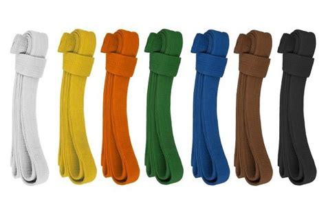 Image of Goju-Ryu karate belt colors.